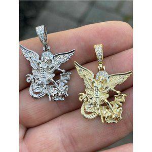 HarlemBling Gold Saint Michael Necklace Pendant